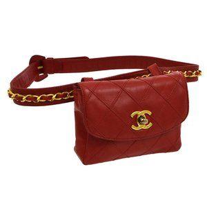 CHANEL Cosmos Line CC Logos Chain Waist Bum Bag Re